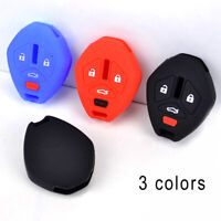 1x 3 Colors Silicone Remote Key Cover Fit For Mitsubishi Lancer Outlander Galant