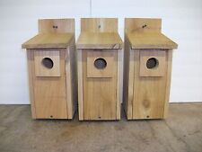 3 - Handmade Cedar Bluebird House Nesting Box with Preditor Guard