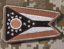 OHIO STATE FLAG USA ARMY MORALE BADGE DESERT VELCRO® BRAND FASTENER PATCH