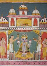 BILD picture Vishnu   Hinduismus Prägedruck INDIEN India Poster 324