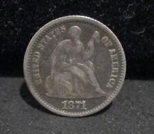 1871 Seated Half Dime - XF+             ENN COINS
