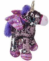 Peluche Unicorno STAR girabrilla star con sequin paillettes occhi glitter 28 cm