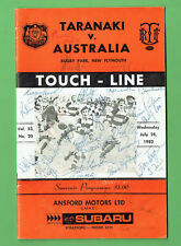#Mm. Taranaki V Australia Rugby Union Program 28th July 1982, Cover Signed