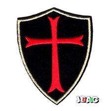 PATCH ECUSSON CROIX TEMPLIER CHEVALIER DU CHRIST TEMPLAR KNIGHT - 8 X 6 CM