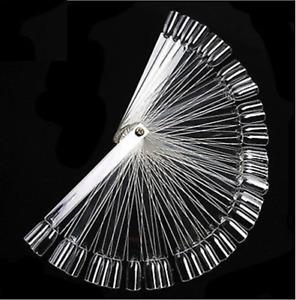 50 Nail Art Tips Colour Pop Sticks Display Fan Clear False Practice Starter Kit