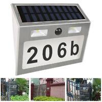 LED Wasserdicht Solar Hausnummer Beleuchtung Hausnummernleuchte Beleuchtet Lampe