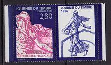 **Timbre+Vignette Neuf*MNH*TBE Journée du Timbre SEMEUSE 1996 (n°2991)