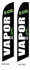 TWO Vapor E-Cig Vape 15 foot Swooper Feather Flag Sign