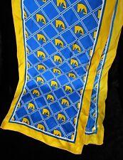 "VINTAGE Warden Brooks Ltd. New York Double Horse Head Silk Scarf - 46 1/2"" Long"