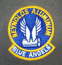 "REYNOLDS ALUMINUM BLUE ANGELS EMBROIDERED SEW ON  PATCH COMPANY 4"" x 3 1/2"""