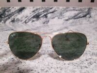 Ray Ban Aviator originals Sunglasses RB3026 62mm Gold Frame classic green LENSES