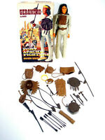Vtg Marx Geronimo Fort Apache Fighter Moveable Figure In Box With Accessories