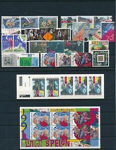 Netherlands Niederlande 1991 Year Set Complete incl. Miniature Sheets MNH