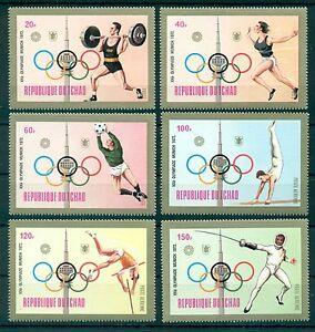 CHAD *1972 * compl.set 6 stamps MNH** Olympic Games - Munich - Mi.No 582-587