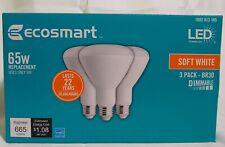 EcoSmart 65-Watt Equivalent BR30 Dimmable LED Light Bulb Soft White (6-Pack)