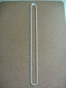 """new 3mm 925 silver 19.5"""" rope chain."""