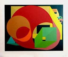 AL HELD Original Pencil SIGNED LTD ED SCREENPRINT Hard Edge Abstraction MET MUSE