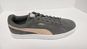 Puma Suede Classic Sneakers, Grey/Pink, Men's 12 M