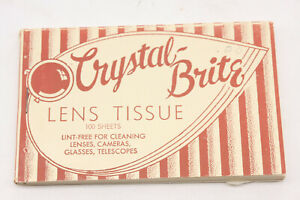 Crystal-Brite David Chicago Lens Cleaning Tissue Pack LensClean - VINTAGE B215E