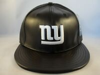 New York Giants NFL Reebok Fitted Cap Hat Size 7 1 4 Brown Leather 3b38e4d2105c