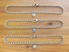 316 Stainless Steel Rolo or Belcher Chain Charm (various) Anklet