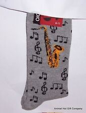 Saxophones and Music Notes Mens/Womens Socks