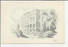 vecchia cartolina artistica pola  comitato nazionale per i rifugiati italiani