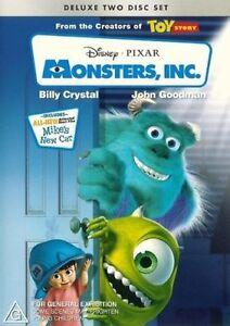 Monsters, Inc. DVD (PAL, Deluxe 2 Disc Set ) Freepost