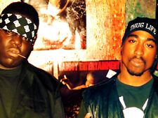 Biggie Notorious B.I.G and Tupac 2Pac Giant XXL 1 Piece Glossy Poster Art Print!