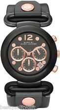 MARC JACOBS GREY LEATHER+ROSE GOLD CHRONO WATCH-MBM1171