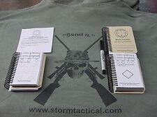 StormTactical POCKET BOOK Long Range Rifle Sniper Data Book Tan Plastic Cover