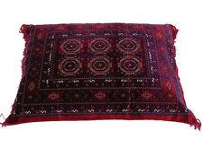 80x58 cm orient Afghan Teppich sitzkissen bodenkissen Turkmen cushion 1001-nacht