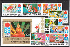 HUNGARY SAPPORO'72 OLYMPIC GAMES   SET &S/S   MNH Vf