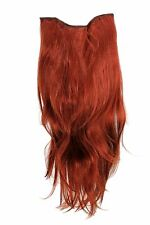 Haarteil - 7 Klammern, Halbperücke rot H9505-350 Clip In Extension 60 cm Wig