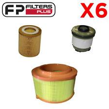 6 x Wesfil Filter Kit - Ford Ranger 2.2L 3.2L T/Diesel PX WA5251 WCO161 WCF207