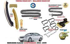 Para Mercedes CLK200 C209 A209 2002-2009 Kit de la cadena de Leva De Sincronización + Kit de eje de balance