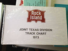 Rock Island Joint Texas Division CRI&P Track Chart 1973 Diagram Profile