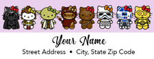 Hello Kitty Star Wars Address Labels 30 Per Sheet New