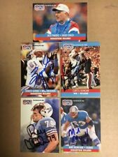 Houston  Oilers Signed  1991 ProSet FB Card Lot(5)Munchak,Childress,Givens,Parde