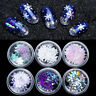 6 Boxes 3D Nail Glitter Sequins Holographic Snowflake Nail Art DIY Decoration