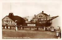 Vintage Kent Real Photo Postcard, Pier Entrance and Pavilion HERNE BAY AF9