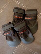 Ultra Paws Washable Durable Dog Boots, Black, Large, Used