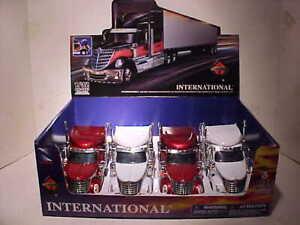 4 Pack International Lonestar Semi Tractor Truck Rig Diecast 1:32 Newray 12 inch
