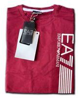 Men's EA7 Emporio Armani Crew Nack Short Sleeve T- Shirts Maroon Size: Medium !!