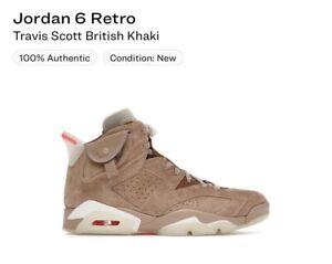 Size 10.5 - Jordan 6 Retro x Travis Scott British Khaki Ships 05/11