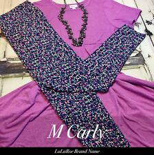 Lularoe Carly Leggings Material Pink Purple Heathered Mauve ONLY No Leggings