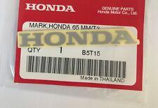 HONDA MARK 65mm METALLIC SILVER DECAL STICKER LOGO BADGE 100% GENUINE ORIGINAL