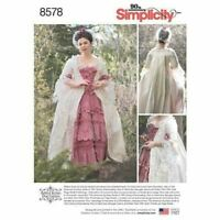 Simplicity Sewing Pattern 8578 Misses 18th Century Gown Costume Size 4-12 UC