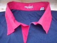 TP1885 van Laack LH Pyjama Shirt Langarm M Shwarz Rot  Sehr gut