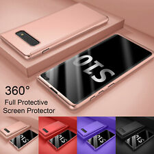 For Samsung Galaxy S10 + / S10e 360° Shockproof Case + Tempered Glass Protector